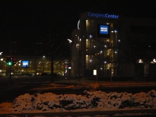 Erfurt  MESSE bei Nacht