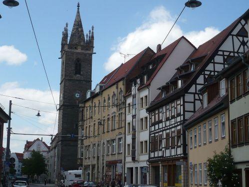 Johannestsraße mit Johannesturm