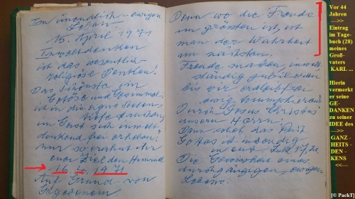 1887 - 1974 Erinnerung an meinen Opa Innedenksprüche Tgb 02a