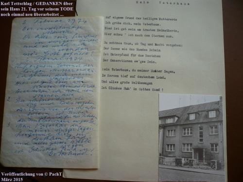 1887 - 1974 Opa Karl _ VaterHaus 2 Gedanken