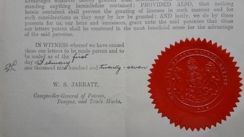 1887 - 1974 8 Entwicklungen meines Opa KATET_Strahler engl.Patent