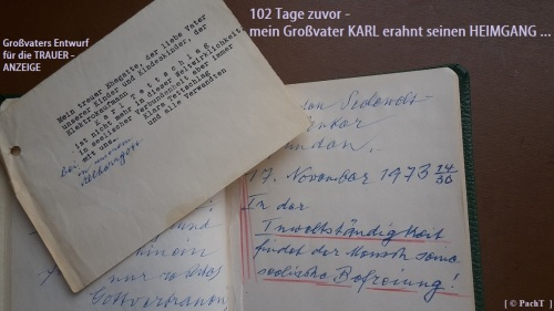 1887 - 1974 Erinnerung an meinen Opa