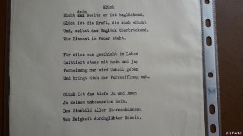 1887 - 1974 Erinnerung an meinen Opa Gedicht-Entwurf Glück