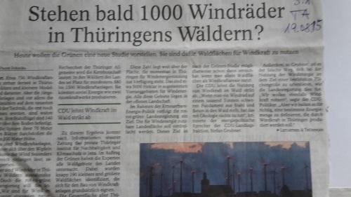 TA-Artikel zu WindRäder 2015.08.19 Titel Blog xxx