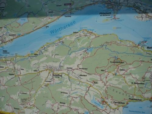 058 MARIA WÖRTH Karte vom Wörthersee