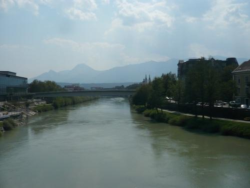 189 VILLACH Stadtbild 2 mit dem Fluß Drau