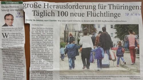 TA-Artikel zu Flüchtlingen 1 2015.09.05 Thür. Blog xxx