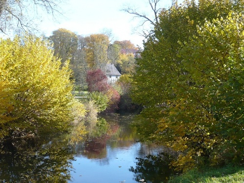 Varianten -3- Goethes Gartenhaus im Herbst
