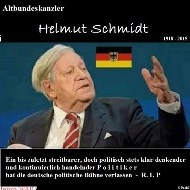 ALT-Bundeskanzler Schmidt _  R.I.P. 1918 - 2015