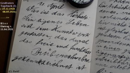 1887 - 1974 Erinnerung an meinen Opa Innedenksprüche Tgb 10