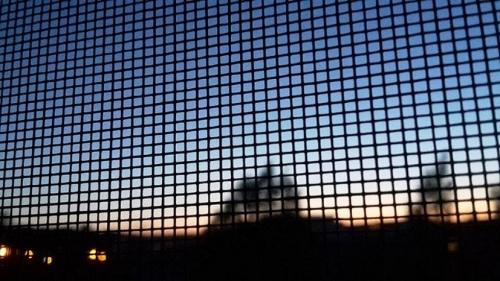 SonnenUntergang durch mein Laborfenster erlebt