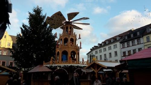Weimar Marktplatz Weihnachtsmarkt _ Tag