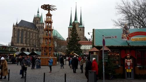 Domplatz Weihnachtsmarkt 2015 am Tage