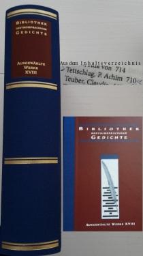 Bibliothek dtschspr. Gedichte 2015_ 10 Bd. XVIII _ Edition