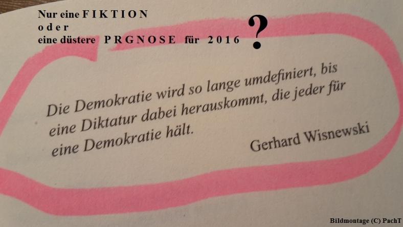 Jahr 2016 Begrüßung ZITAT Demokratie