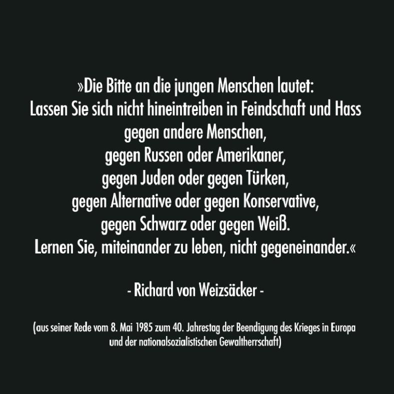 0 Anderer GEDANKEN _ Richard v. Weizäcker Aussage 1985
