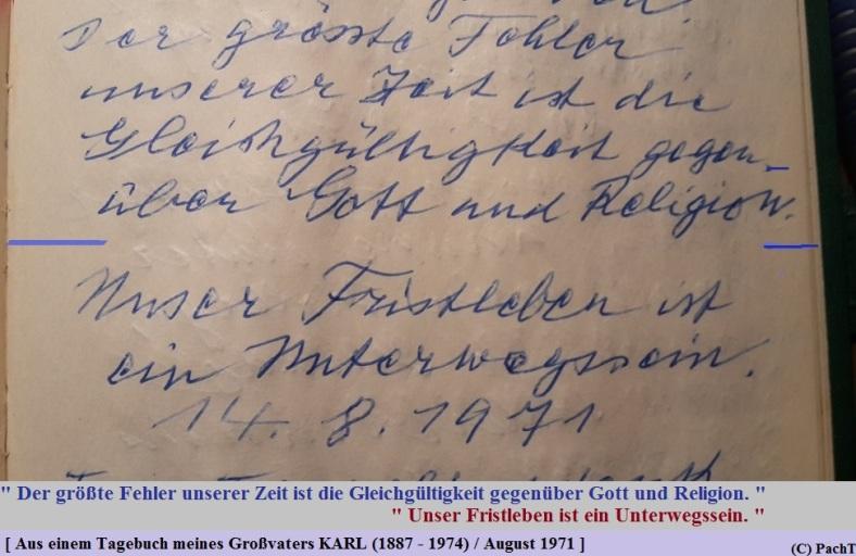 1887 - 1974 Erinnerung an meinen Opa Innedenksprüche Tgb 12