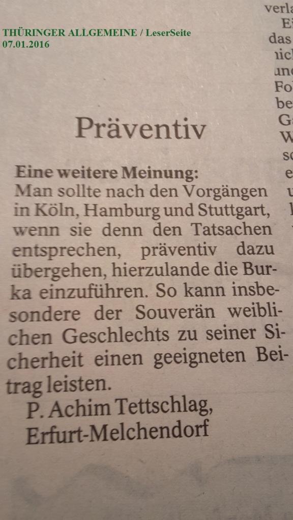 TA-Artikel zu ÜberGriffe in Köln 3 2016.01.06 Blog 2016.01.08