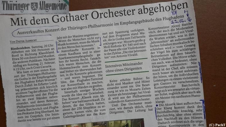 2016.02.20 Konzert FlughafenTerminal 21 Presse-Nachbetrachtung