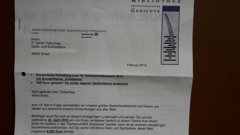 Bibliothek dtschspr. Gedichte 2016_ 01 Bd. XIX _ Persönl.Einladung