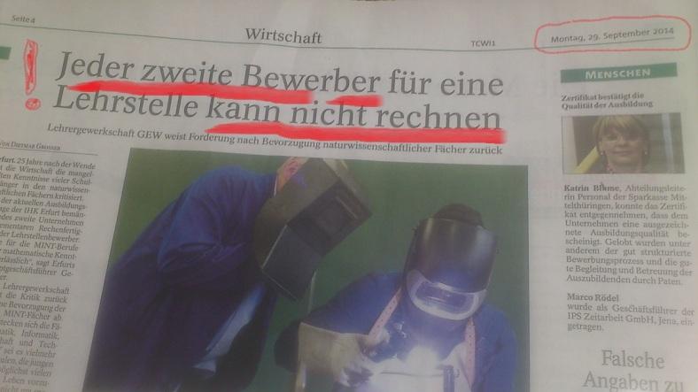 ThürAllgemeine v. 29.09.2014