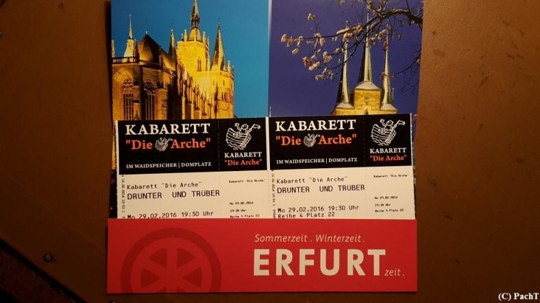 2016.02.29. Kabarett DRUNTER und Trüber 01 Ticket