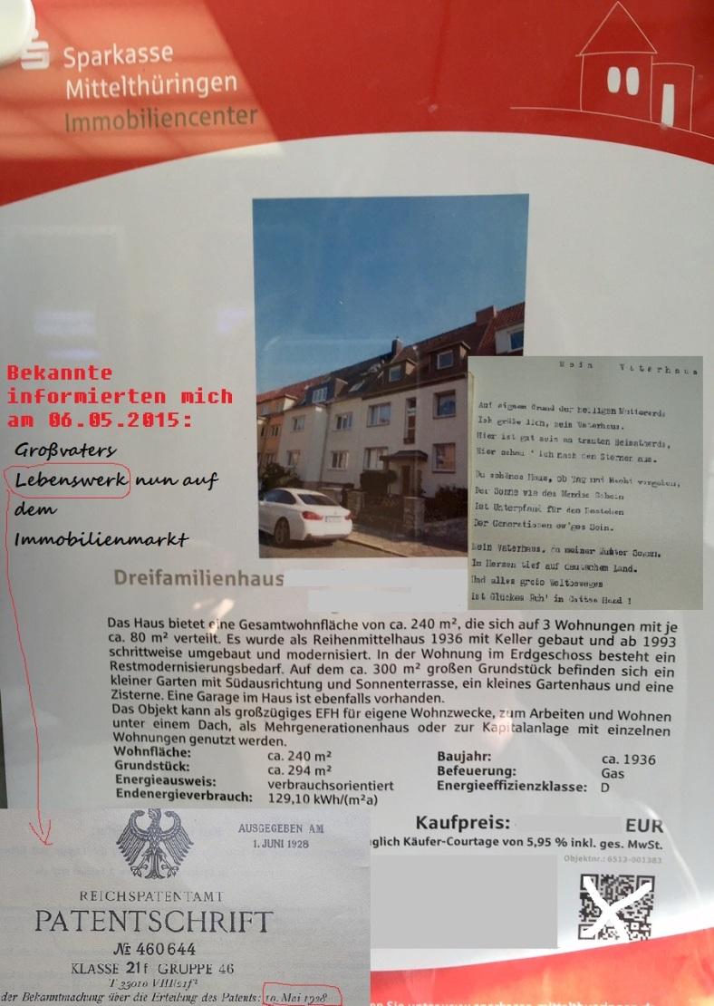 1887 - 1974 Opa Karl _ VaterHaus 3 Verkauf - Kopie