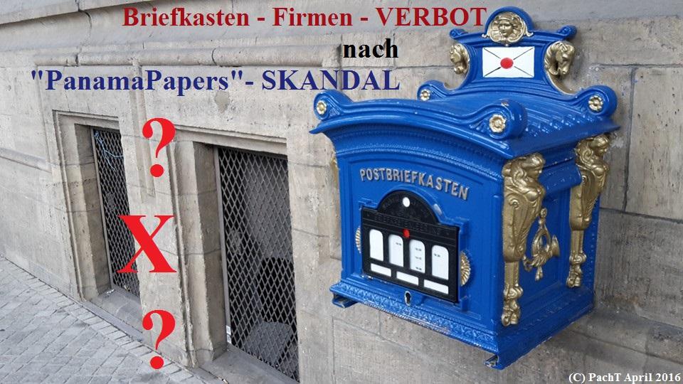 BRIEFKASTEN - FIRMA - VERBOT
