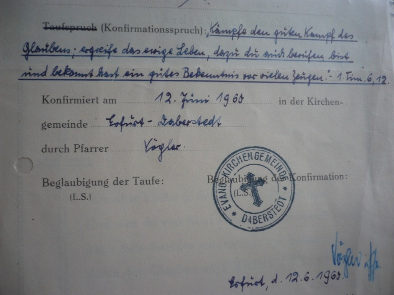 PachT 1960 Konfirmation