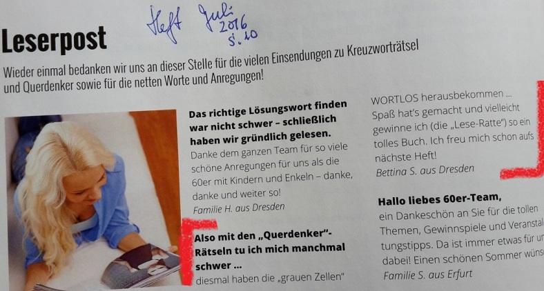 Magazin60+-_31.QUERdenkerRätsel 8 Leserpost