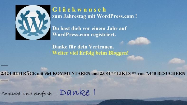 PachTs wordpress 11 Ein JAHR bei WP 19.07.16