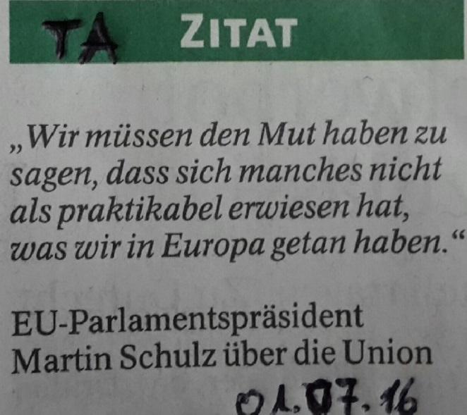 Zitat Europa
