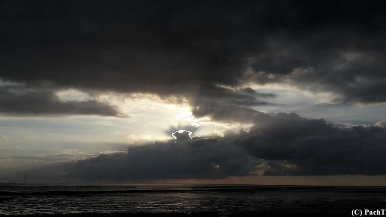 Dorum - Neufeld 30 Wolken u. Wattenmeer