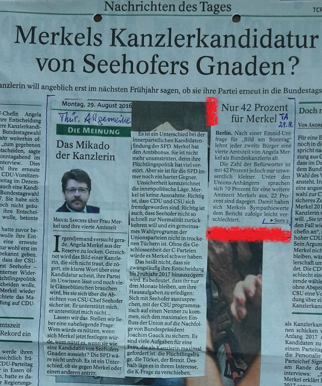 TA-Artikel zu Merkel-Kandidatur _01_2016.08.29 Blog 31.08.16