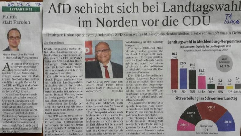 TA-Artikel zu AfD vor CDU in MVP _01_2016.09.05 Blog 07.09.16