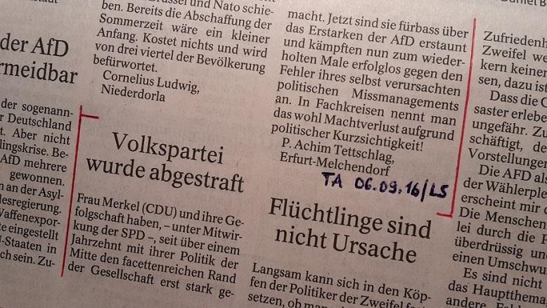 TA-Artikel zu AfD vor CDU in MVP _02_2016.09.05 Blog 07.09.16
