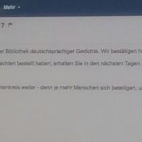 """04.01.17 # Meine (5.) BEWERBUNG für Band XX der """" BIBLIOTHEK deutschsprachiger GEDICHTE """" #"""