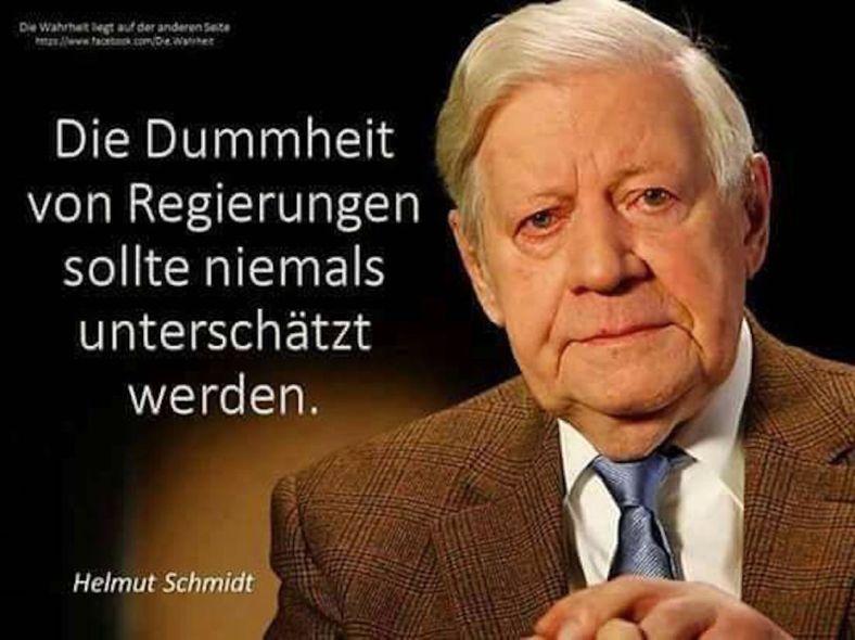 ALT-Bundeskanzler Schmidt _ kluger GEDANKE