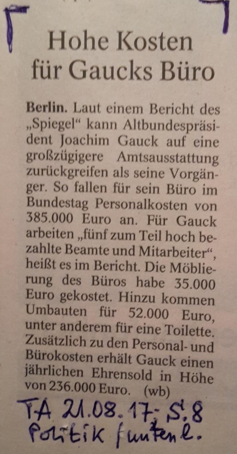 TA-Artikel über Alt-BP Gauck 2017.08.21 1 Blog 00.08.17