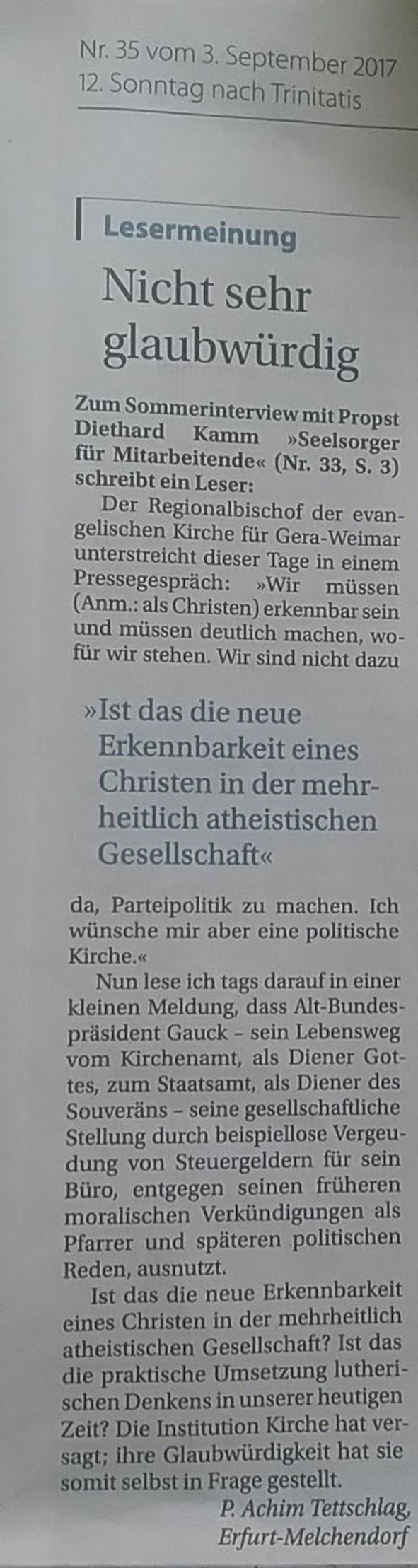 G u H 2017.08.20 Politische Kirche _2_ Blog 2017.09.06