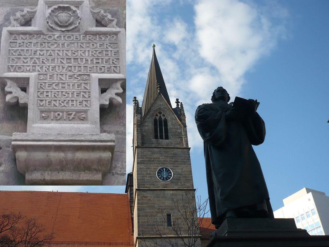 Anger _ Kaufmännerkirche LutherDenkma L.-Erinnerung