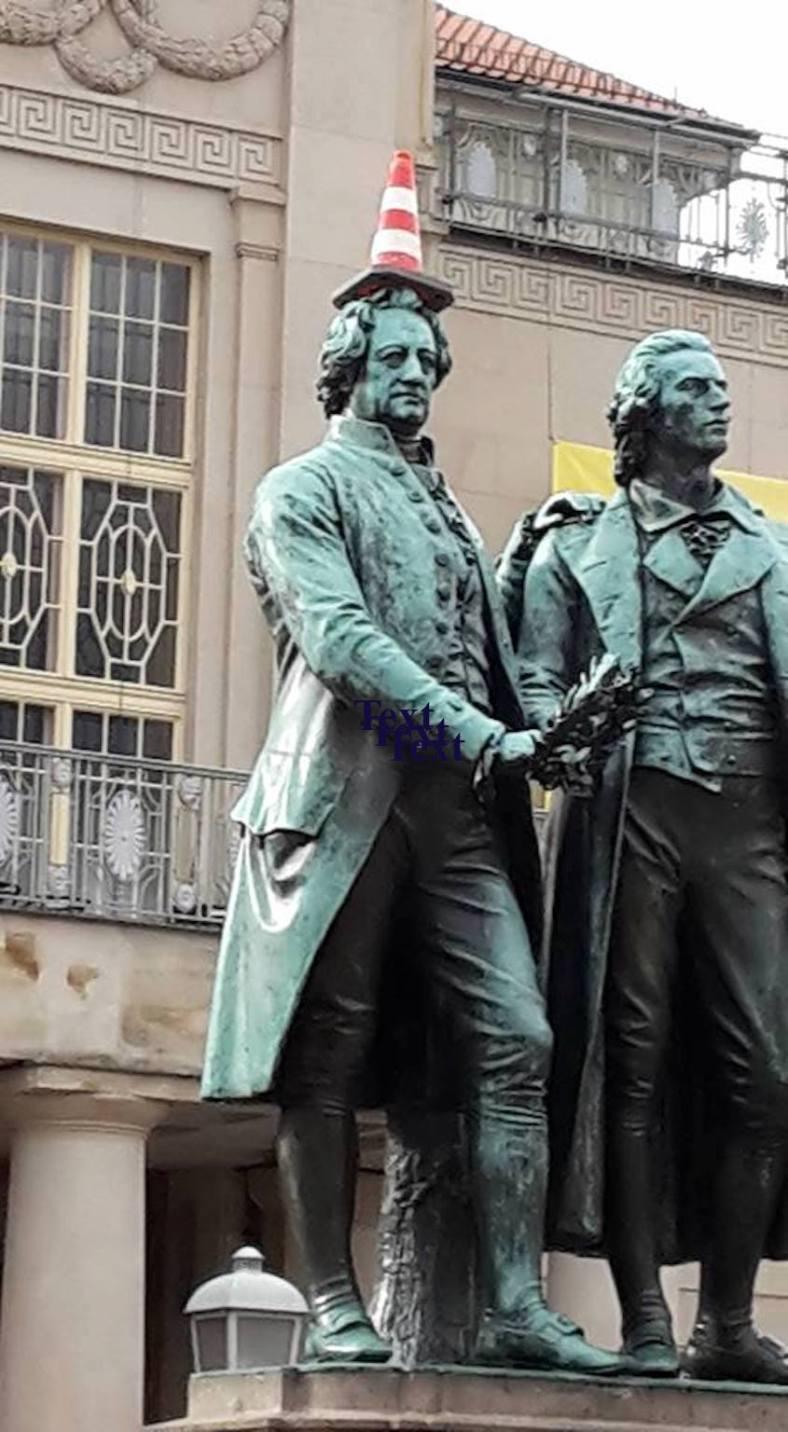 Goethe u. Schiller karnevalistisch