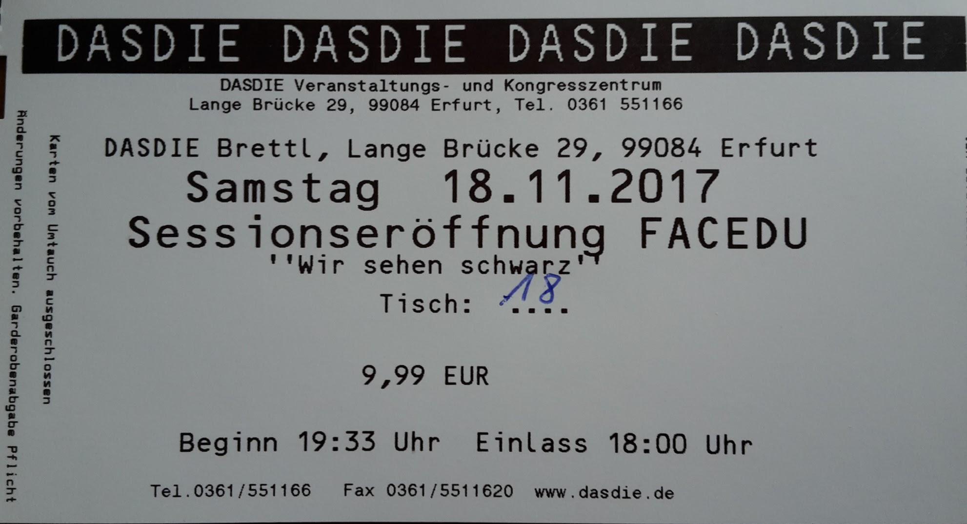 2017.11.18 FaCeDu SessionsEröffnung 01 Ticket
