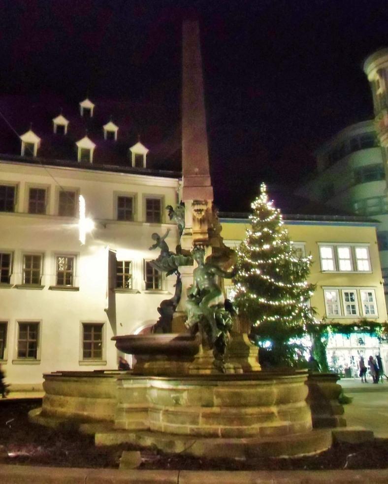 Weihnachten Erfurt Anger Haus Dachröden