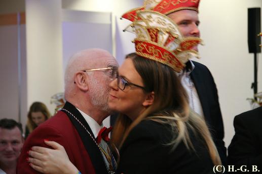 2018 GEC PrinzenFrühstück 15 Küßchen für GEC-Orden