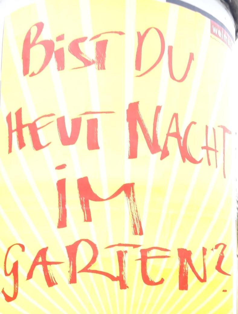 Bist du im Garten