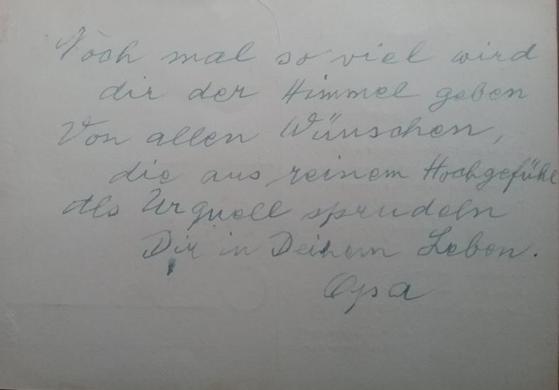 1887 - 1974 Erinnerung an meinen Opa Innedenksprüche Tgb 13 für mich