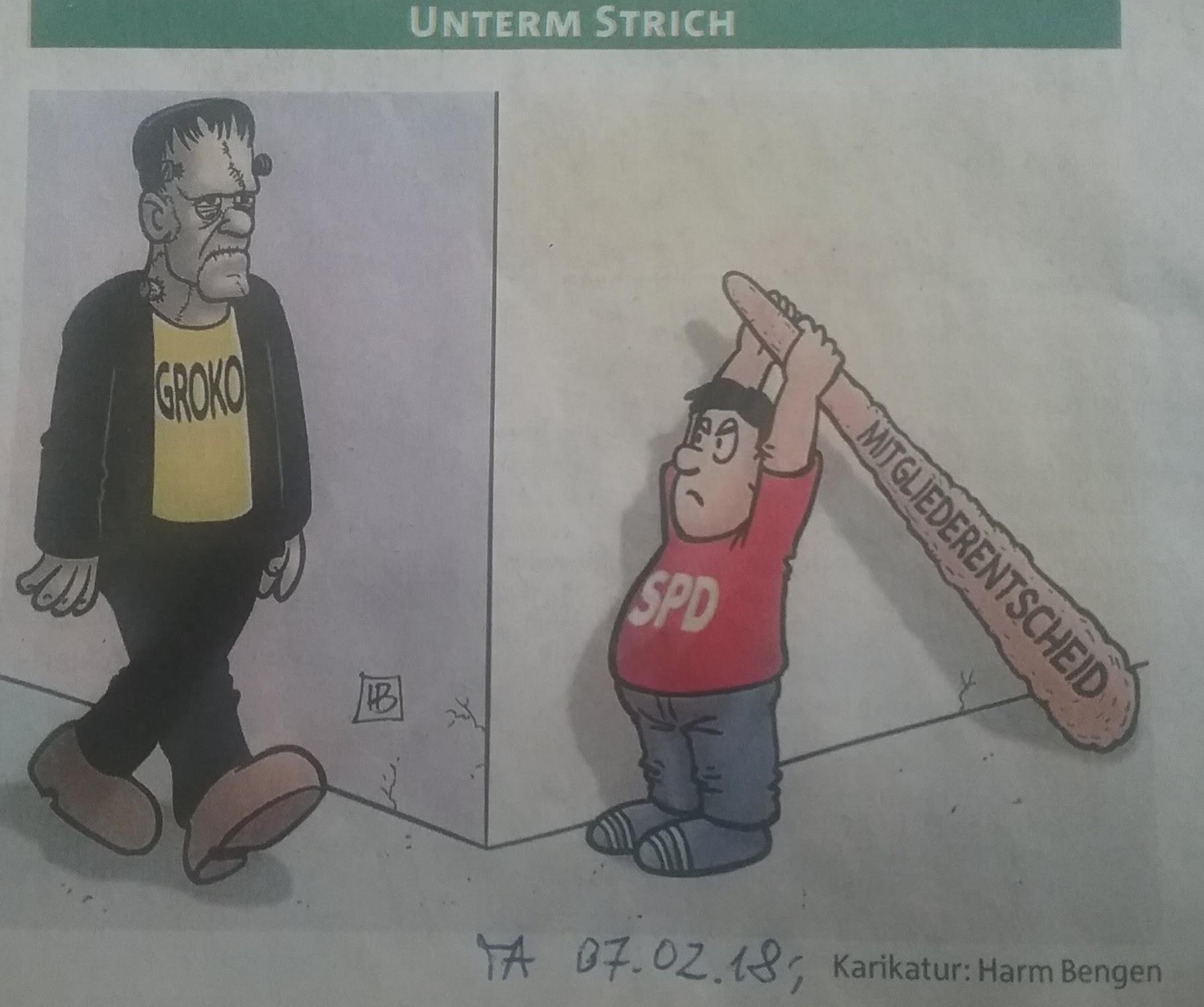 Karrikatur GroKo