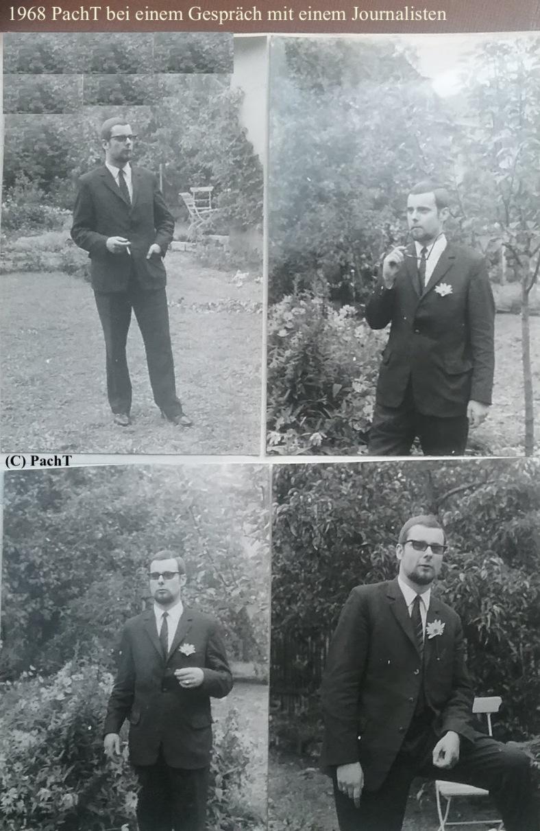 PachT 1968 bei einem Gespräch mit einem Journalist
