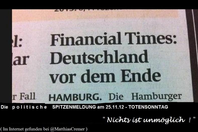 DEUTSCHLANDamENDE _ Spitzenmeldung 25.11.12